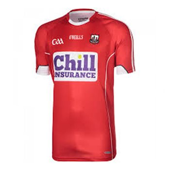 ONeills Cork GAA Home Jersey 2017 - Red  - Click to view a larger image