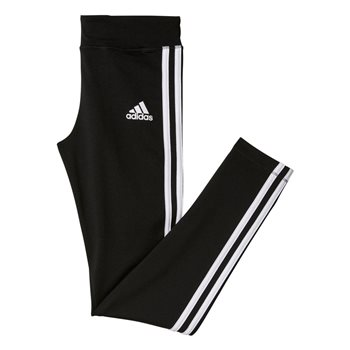 Adidas Girls Gear Up 3S Tights - Black/White  - Click to view a larger image
