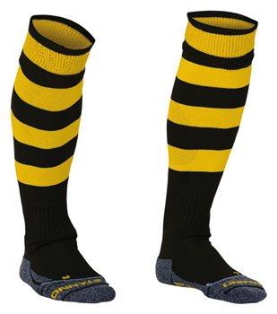Stanno Hooped Kids Black//Yellow Socks
