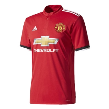 Adidas Manchester Utd Home Jersey 17/18 Kids - Red  - Click to view a larger image