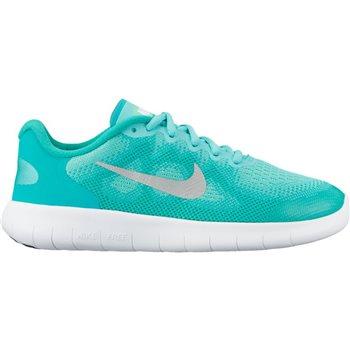 c1b55fd9ea4fc Nike Girls Free RN 2 (GS) - Green Silver