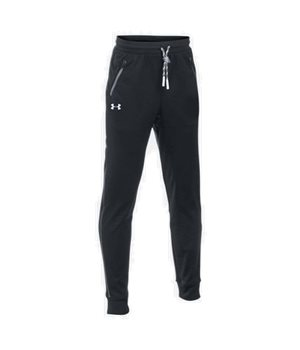Under Armour Boys Pennant Tapered Track Pants - Black - Click to view a  larger image f057dd2df