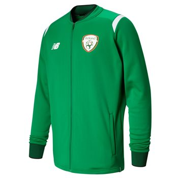 bb5613a59 New Balance FAI Ireland Elite Walk Out Jacket 17/18 Adults - JGN Green/