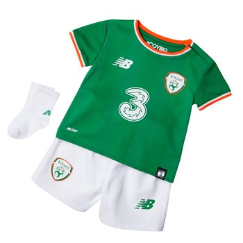 New Balance FAI Ireland Home Baby Kit 17/18 - JGN Green/Orange/White