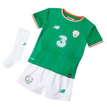 New Balance FAI Ireland Home Infant Kit 17/18 - JGN Green/Orange/White