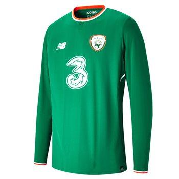 New Balance FAI Ireland Home L/S Jersey 17/18 Adults - JGN Green/Orange/White