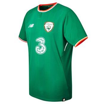 New Balance FAI Ireland Home S/S Jersey 17/18 Adults - JGN Green/Orange/White