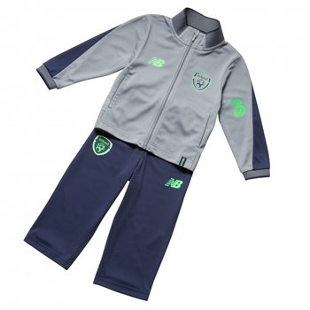 New Balance FAI Ireland Infant Tracksuit 17/18 - Grey  - Click to view a larger image