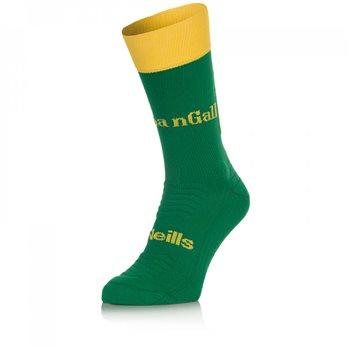 ONeills Donegal GAA Midi Sock - Green/Gold