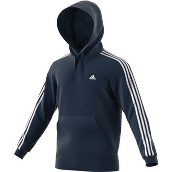 Adidas Mens Essential Pullover Hoodie - Navy/White  - Click to view a larger image