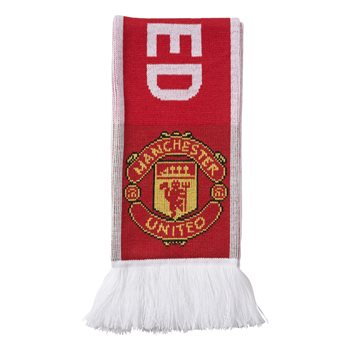 Adidas Manchester Utd Scarf - Red/White  - Click to view a larger image