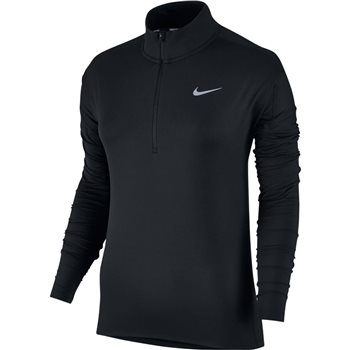 Nike Womens Dry Element Half Zip Top - Black  - Click to view a larger image
