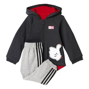 a03a71df3607 Adidas Infants Disney MM Jogger Set - Grey Black Red