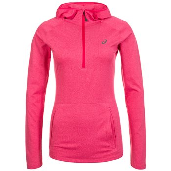22a0cc181d9a Asics Womens Long Sleeve Running Hoodie - Cosmo Pink