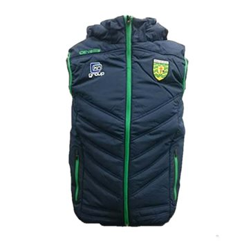 ONeills Donegal GAA Slaney Hooded Gilet - Navy/Emer  - Click to view a larger image