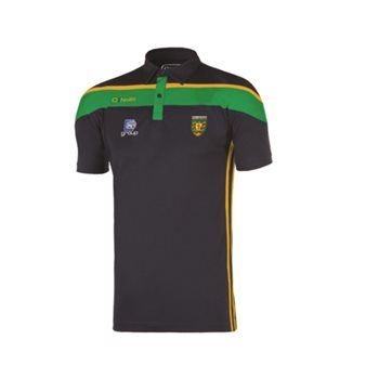 ONeills Donegal GAA Slaney Polo - Navy/Emer/Amber  - Click to view a larger image