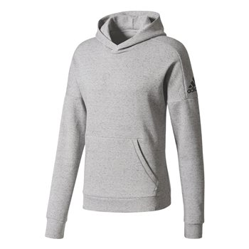 Adidas Mens ID Stadium P/O Hoodie - Grey  - Click to view a larger image