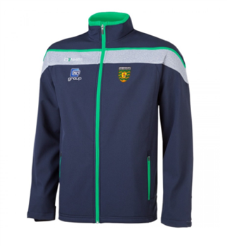 ONeills Donegal GAA Slaney FZ SoftShell Jkt - Navy/Marl/Emer  - Click to view a larger image