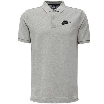 Nike Mens Sportswear Pique Polo Matchplay - Grey  - Click to view a larger image