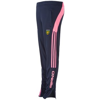 ONeills Donegal GAA Lene Skinny Squad Pants - Navy/Flo.Pink  - Click to view a larger image