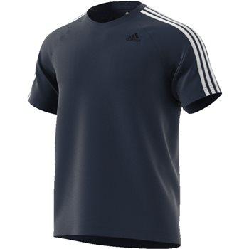 Adidas Mens D2M 3S T-Shirt - Navy