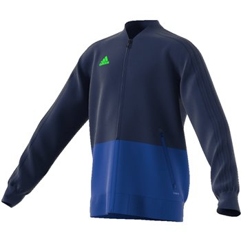 Adidas Condivo18 Presentation Jacket - Youth - Dark Blue/Bold Blue/White  - Click to view a larger image