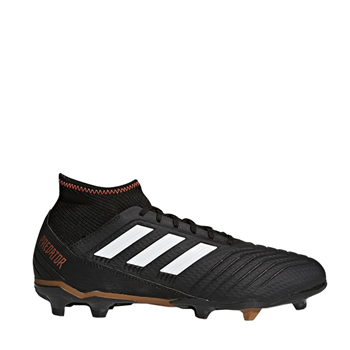 2c602e31c Adidas Predator 18.3 FG Firm Ground Boots - Black White SolarRed - Click to