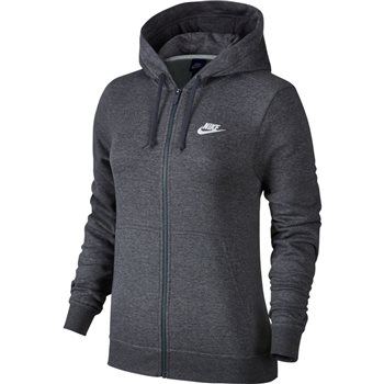 Nike Womens Sportswear FZ Fleece Hoodie - Grey  - Click to view a larger image
