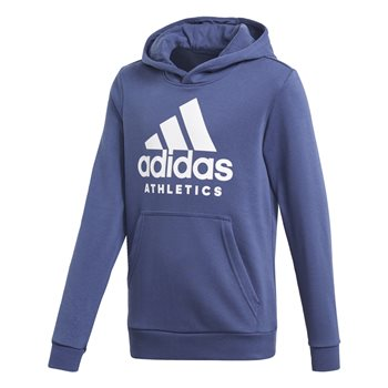 Adidas Boys Sports ID Hoodie - Navy/White  - Click to view a larger image