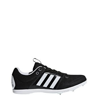 8e0490ceea06 Adidas Kids Allroundstar J Running Spikes - Black White - Click to view a  larger