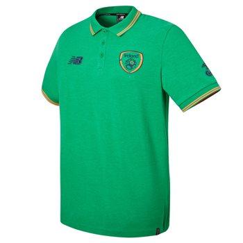 New Balance FAI Ireland Media Power Polo 17/18 - Green/Orange/Black