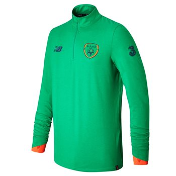 New Balance FAI Ireland Midlayer Top 17/18 Kids - Green/Orange/Black