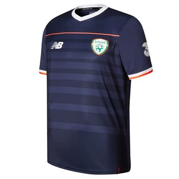 New Balance FAI Ireland Training Pre Match Tee 17/18 - Navy/White/Orange  - Click to view a larger image