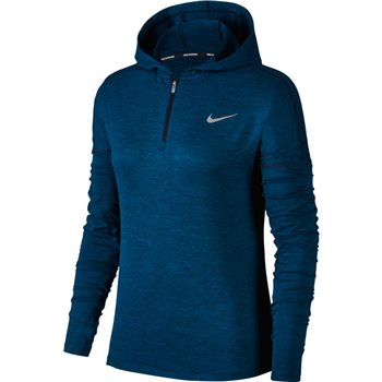 Nike Womens Dry Element Hoodie - Navy Marl  - Click to view a larger image