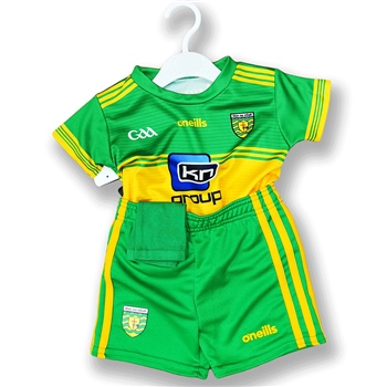 ONeills Donegal GAA Home Kit 2019 - Kids - Yellow/Green  - Click to view a larger image