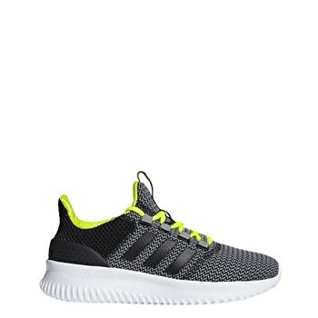 adidas bambini cloudfoam grigio / nero / volt definitiva