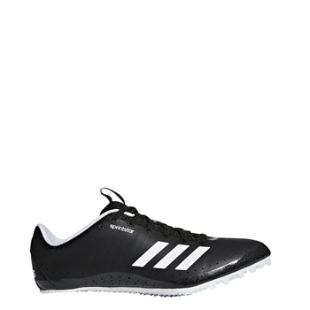 Adidas Womens Sprintstar Running Spikes - Black/White  - Click to view a larger image