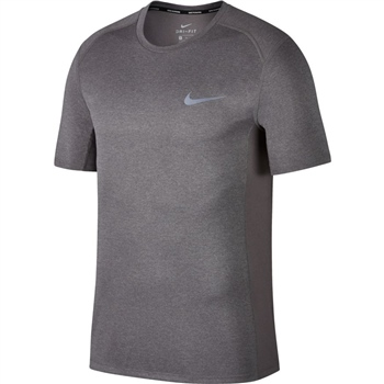 Nike Mens Miler S/S Top - Grey  - Click to view a larger image