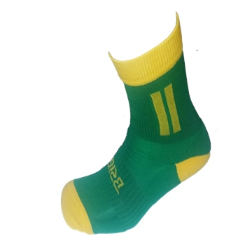 Briga Donegal Midi Football Sock - Green/Gold  - Click to view a larger image