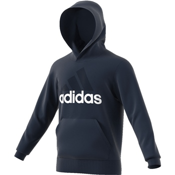 Adidas Mens Essentials Linear P/O Hoodie - Navy  - Click to view a larger image