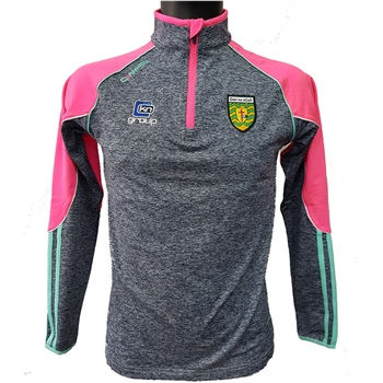 ONeills Donegal GAA Dillon Brushed HZ Top - Women - Marine/Pink/Honeydew  - Click to view a larger image