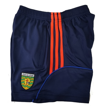 ONeills Donegal GAA Dillon Training Shorts - Marine/Royal/Orange  - Click to view a larger image