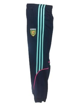 ONeills Donegal GAA Dillon Leggings - Womens - Navy/Flo.Pink/Honeydew