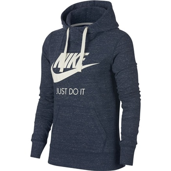 Nike Womens NSW Gym Vintage Hoodie HBR - Navy  - Click to view a larger image