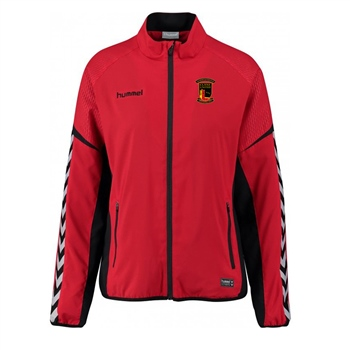 Clane United FC Authentic Charge Micro Zip Jacket - Youth -True Red  - Click to view a larger image