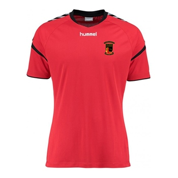 Clane United FC Authentic Charge Poly Jersey SS - Youth -True Red  - Click to view a larger image