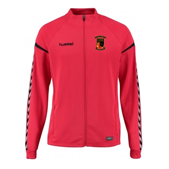 Clane United FC Authentic Charge Poly Zip Jacket - True Red  - Click to view a larger image
