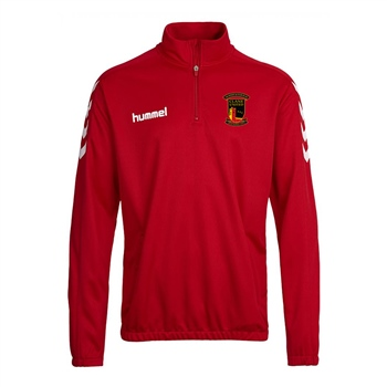 Clane United FC Core Half Zip Sweat - Red  - Click to view a larger image