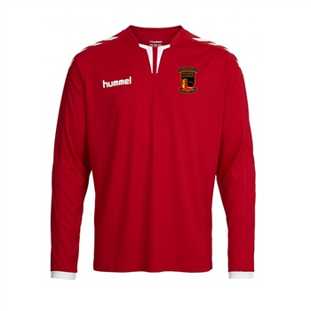 Clane United FC Core Long Sleeve Poly Jersey -  Red  - Click to view a larger image