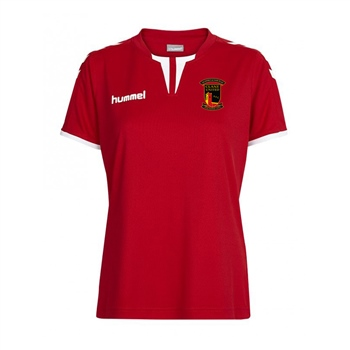 Clane United FC Core Women's Short Sleeve Poly Jersey - Red  - Click to view a larger image
